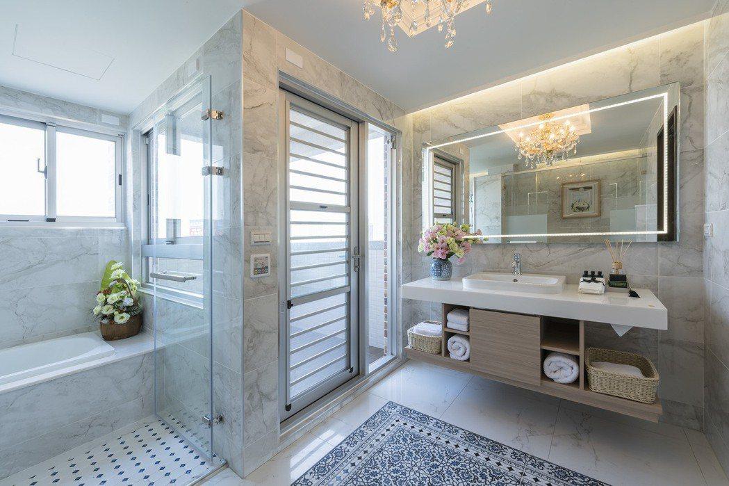 陽光主臥衛浴實景。圖片提供/寶立建築