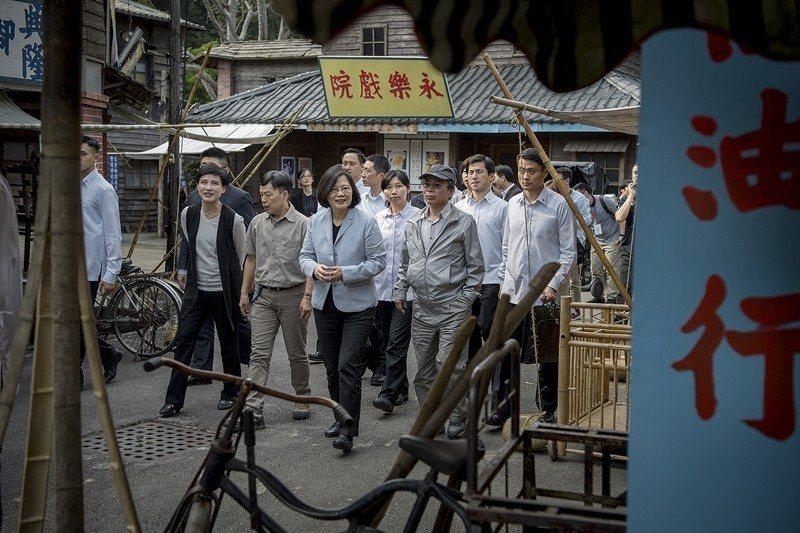 2017年4月,蔡英文總統探視植劇場拍攝。 圖/取自總統府 Flickr