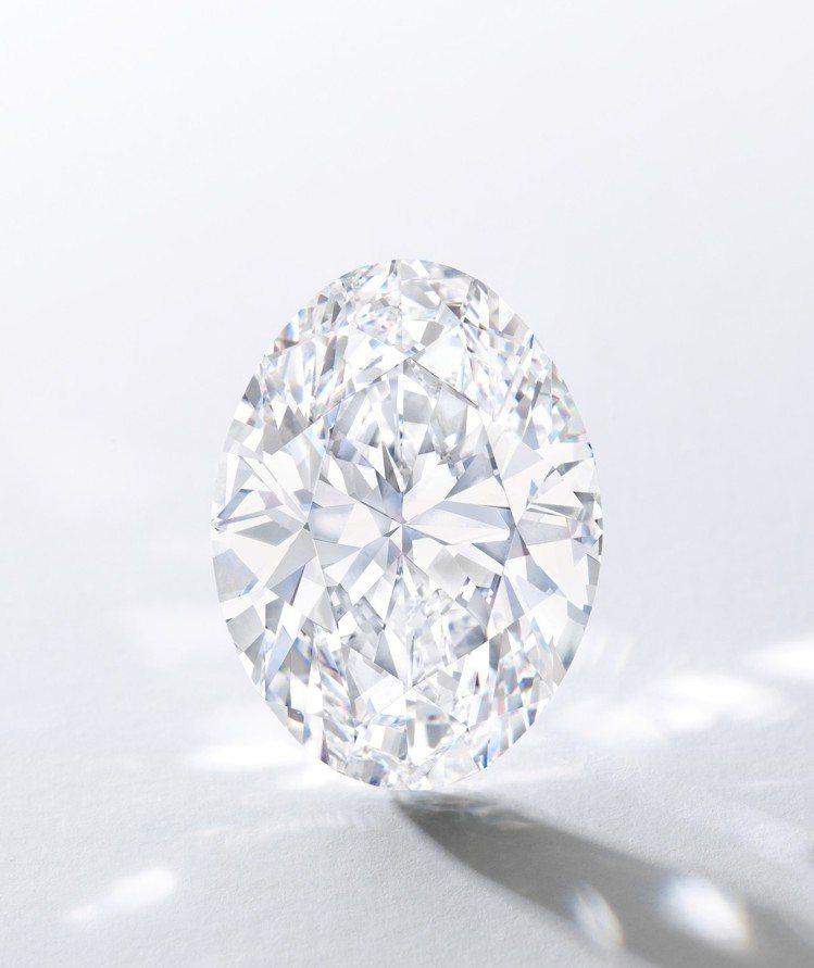 一枚88.22克拉D色無瑕 Type IIa橢圓形巨鑽將領銜4月2日於香港登場的...