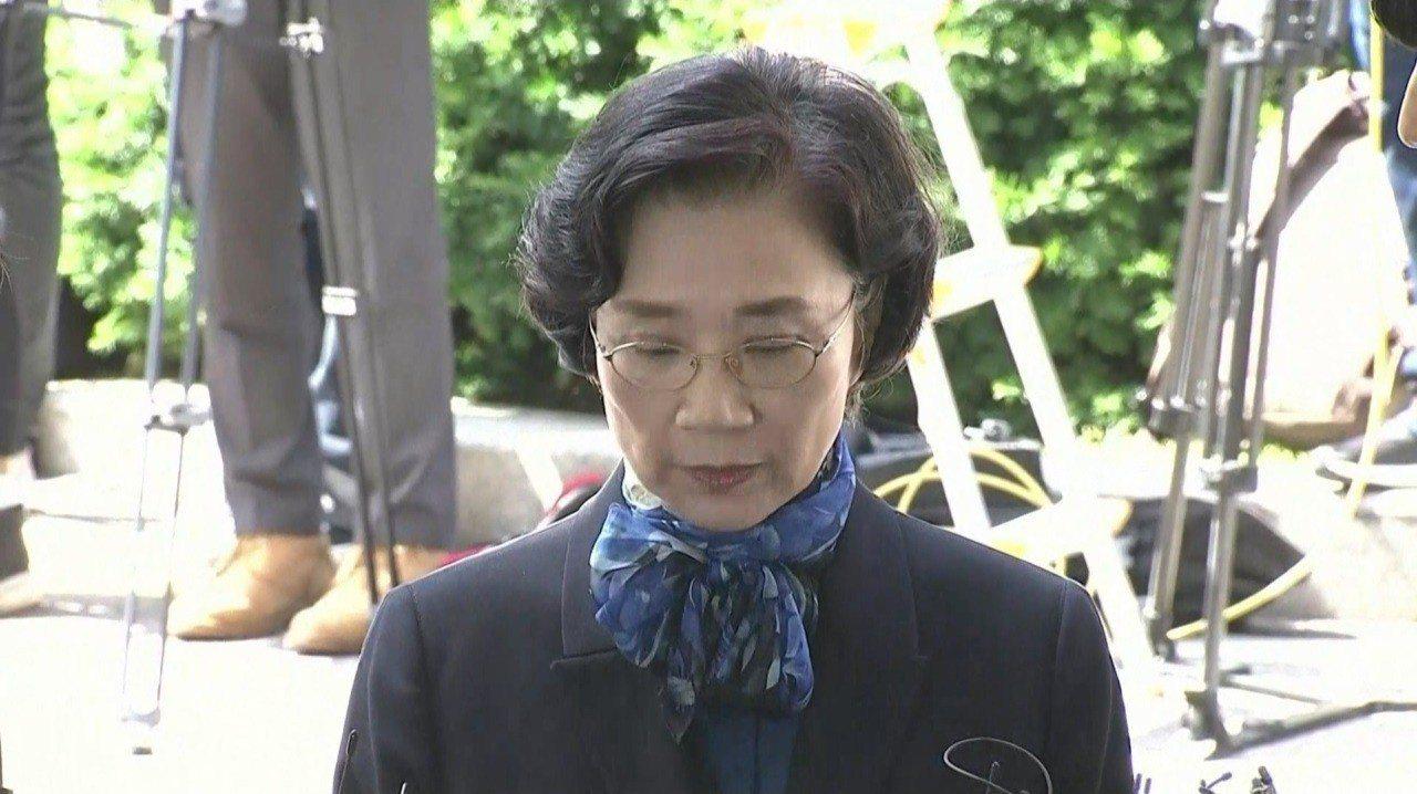大韓航空會長趙亮鎬妻子李明姬2018年6月28日被警方傳喚。南韓媒體JTBC日前...