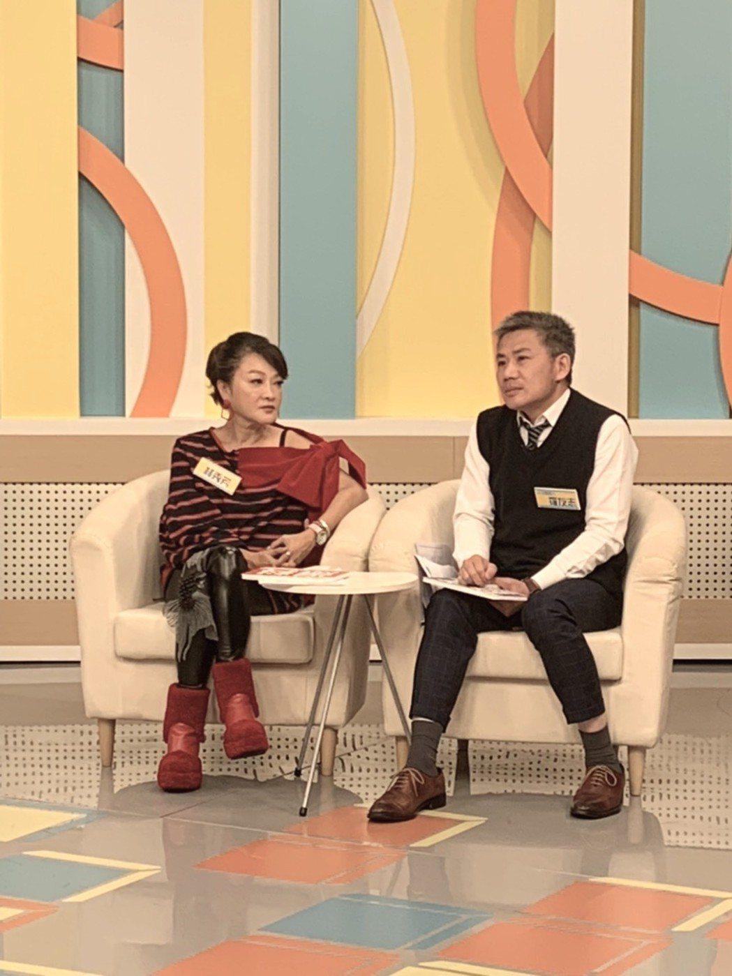 羅友志(右)上節目訴婚姻苦水。圖/和展提供