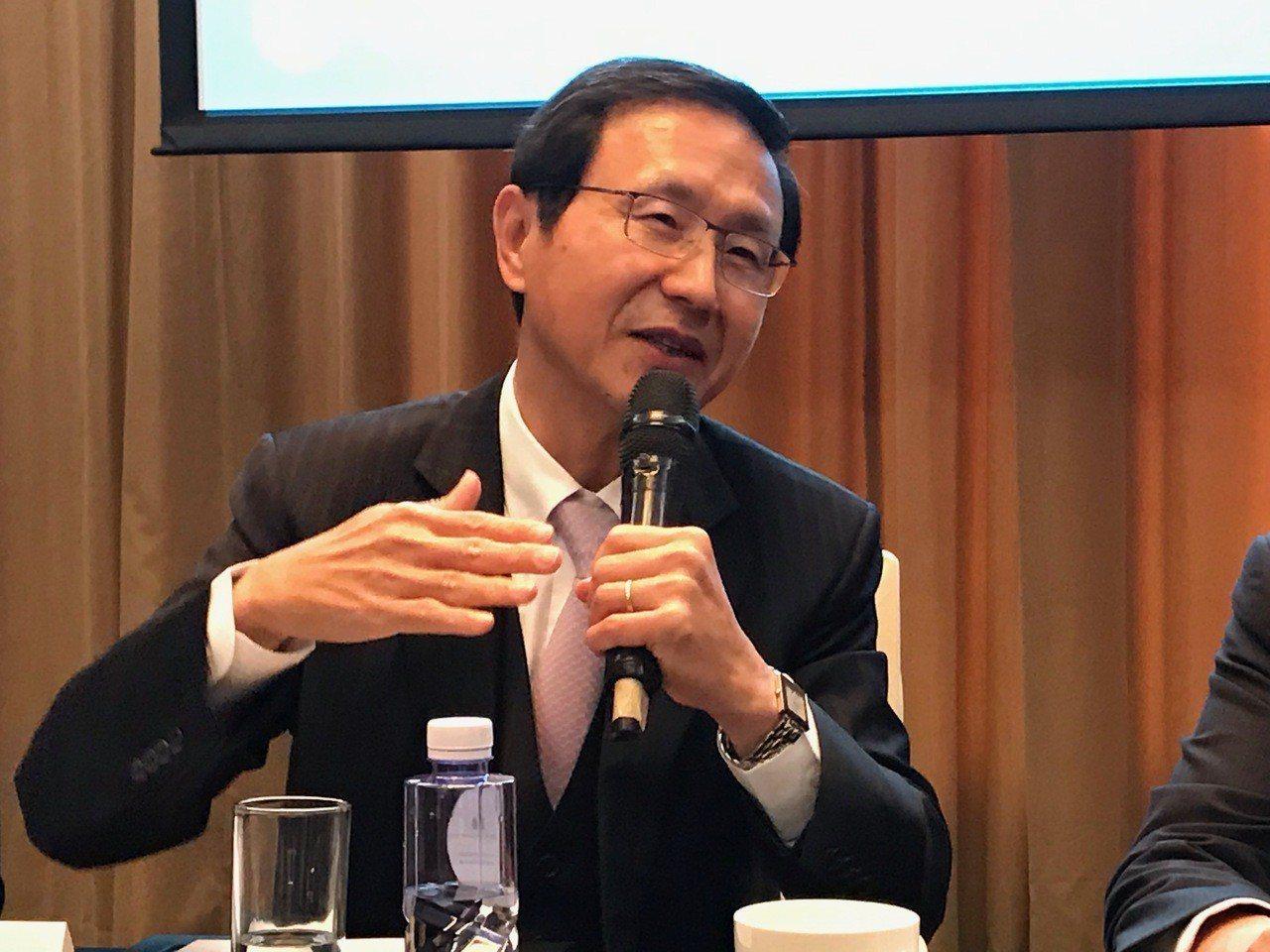 中國信託銀行總經理陳佳文今(20)日上午在深圳接受媒體聯訪。 記者陳怡慈/攝影