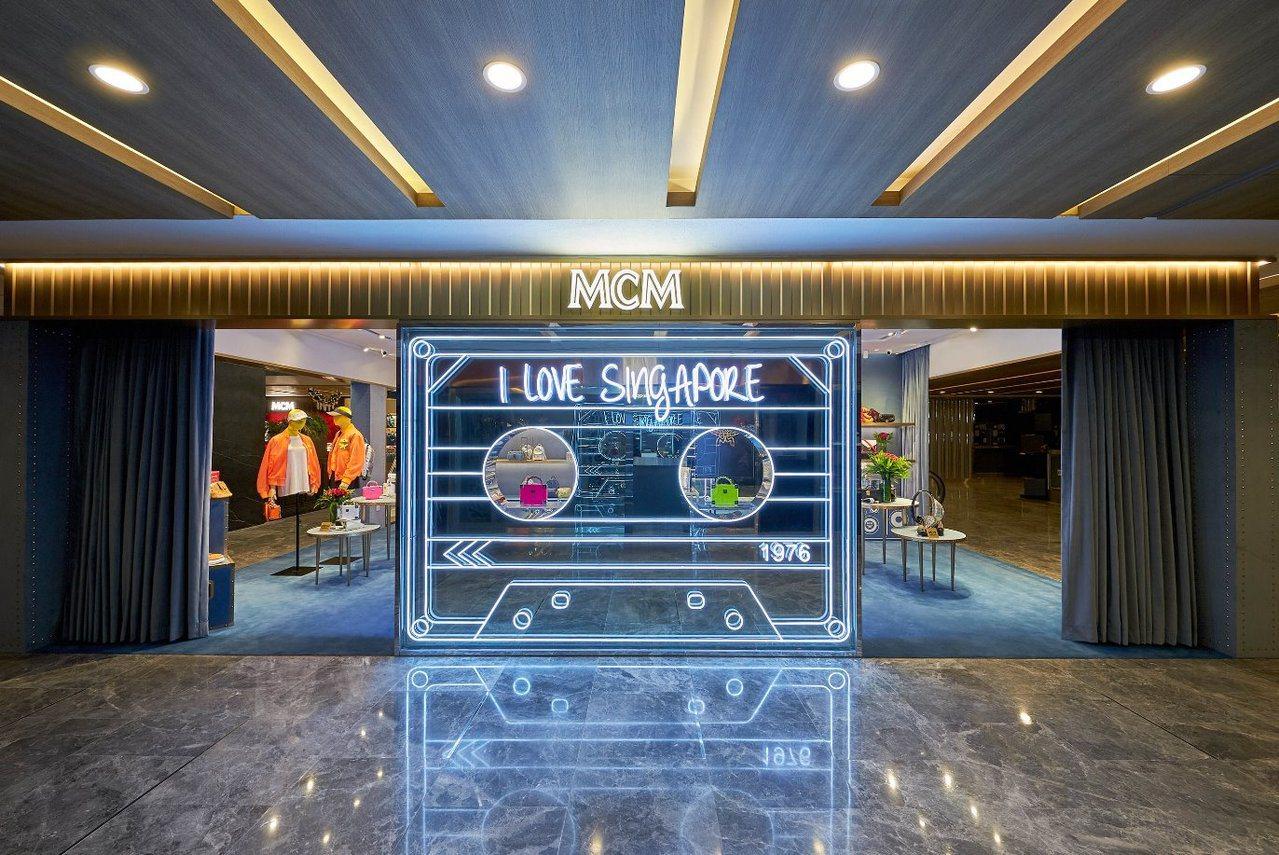 新加坡開設的MCM Playground為快閃店型態。圖/MCM提供