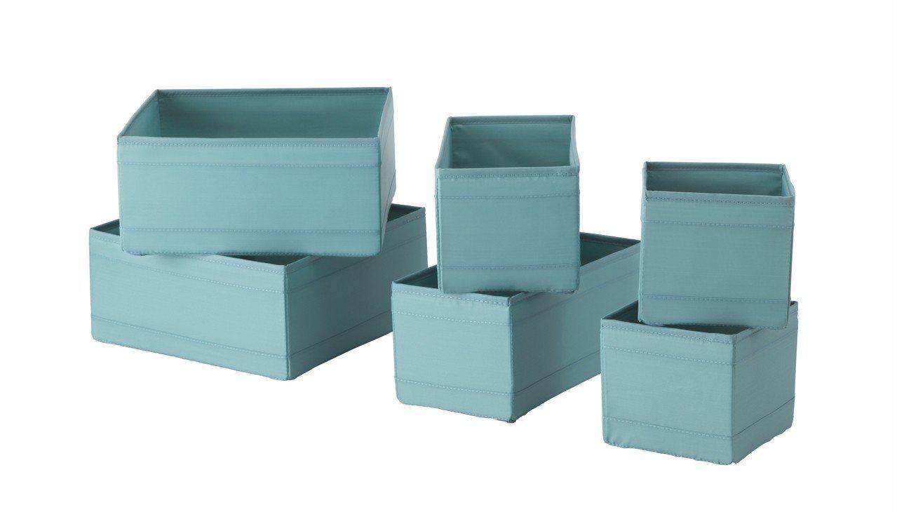 SKUBB收納盒6件組,原價249元、特價149元。圖/IKEA提供