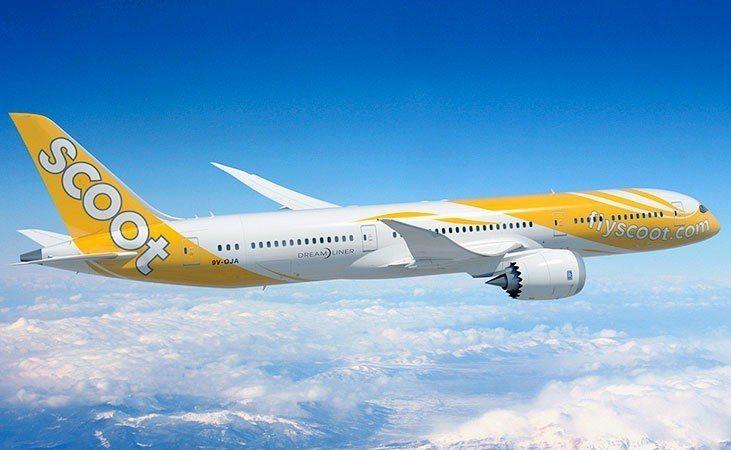 酷航6月起增班高雄飛往新加坡、大阪等航班。圖/酷航提供