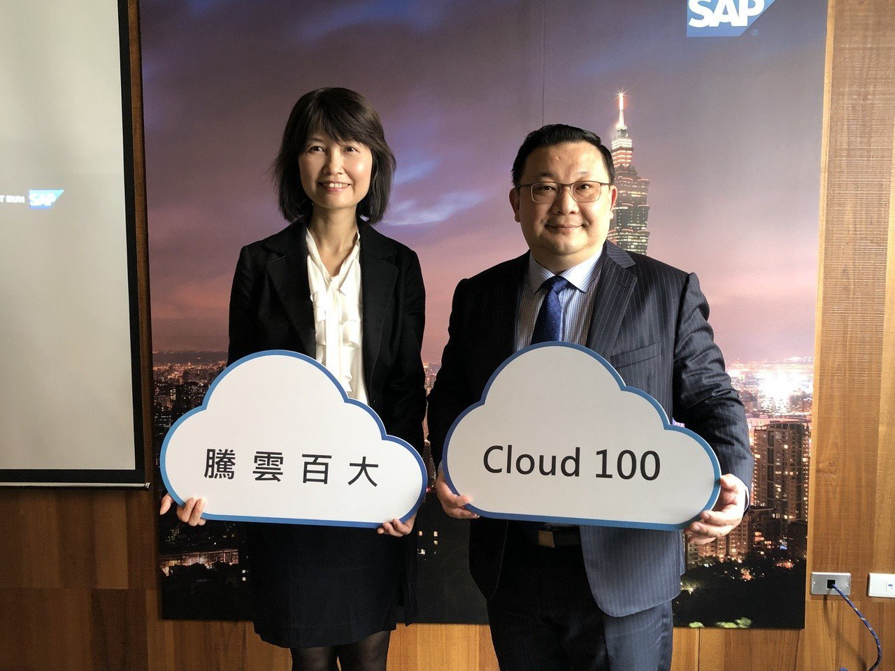 SAP全球副總裁暨台灣區總經理謝良承(右)。記者蕭君暉/攝影