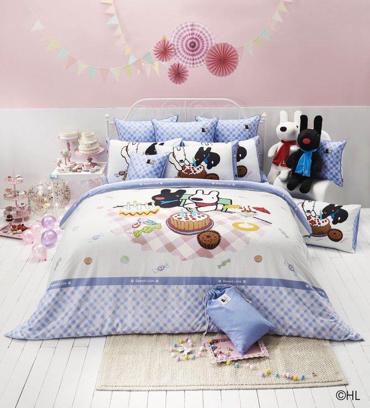 寢具的款式材質,選用純棉,在炎熱的夏天之中,不會導致皮膚敏感。圖/La mode...