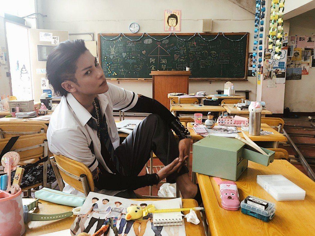 陳柏融在片中飾演癡情男阿金,圈了一堆粉絲。圖/周子娛樂