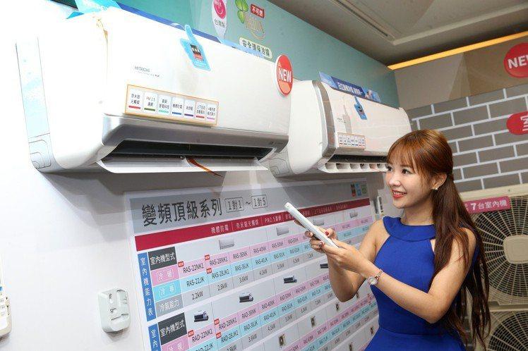日立變頻家用空調全系列均榮獲MIT微笑標章,分離式更搭載PM2.5濾網記者胡經周...