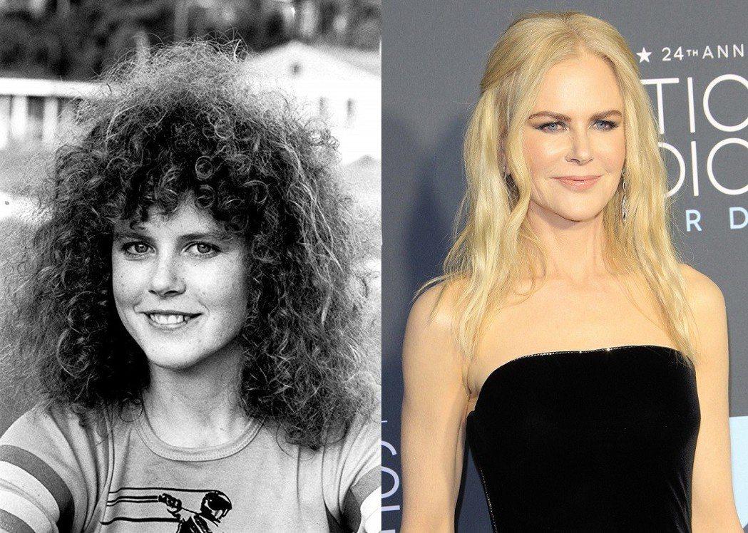 妮可基嫚經過30多年,外貌也有明顯轉變。圖/摘自imdb、歐新社