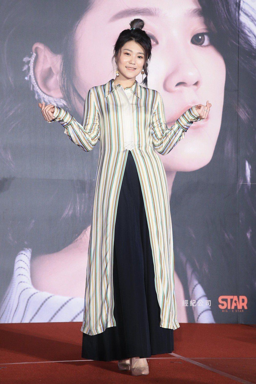 台語新生代人氣歌手曹雅雯舉行記者會,公布將於四月舉辦個人演唱會。記者林伯東/攝影