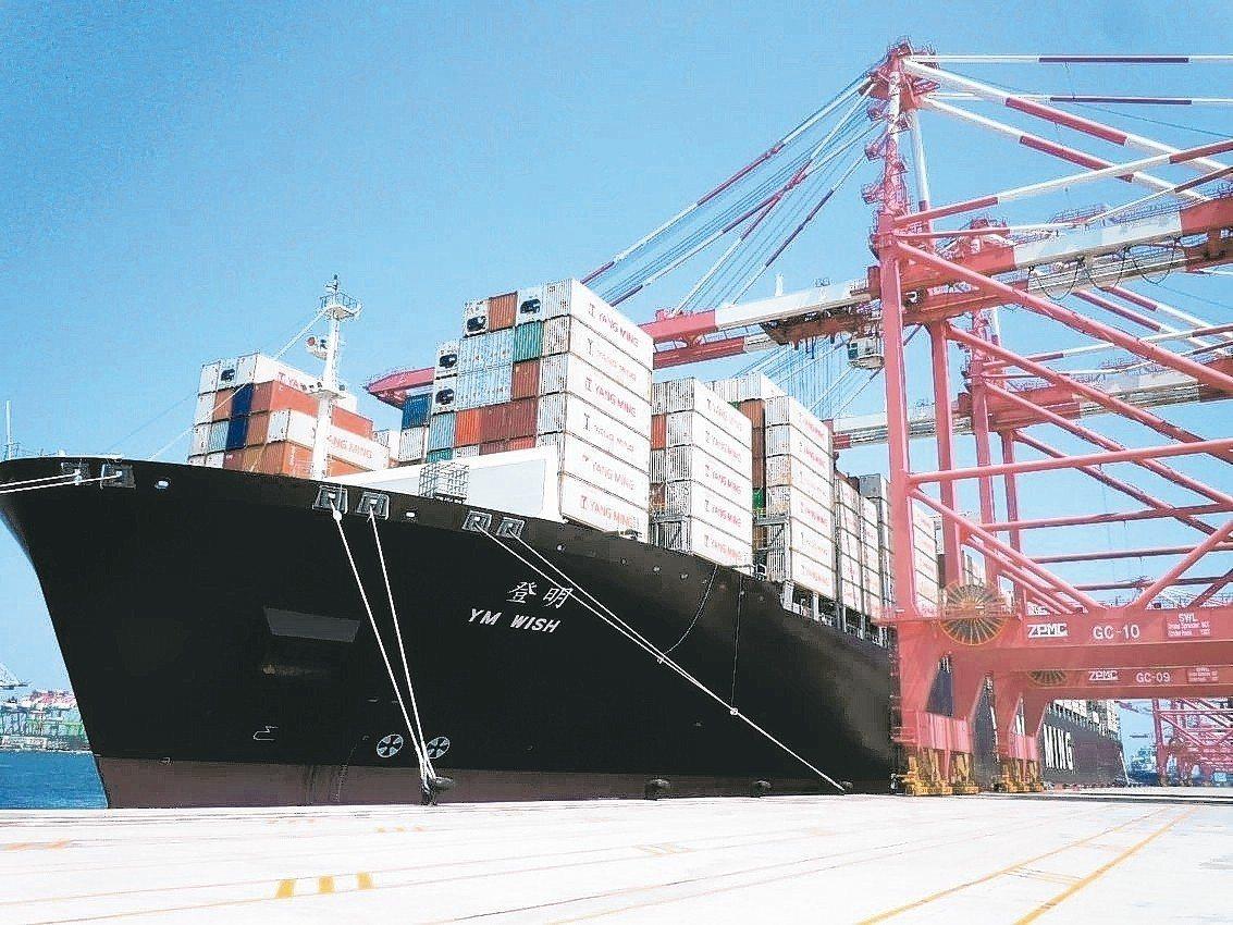 陽明海運對今年貨櫃市場偏向樂觀。 圖╱聯合報系資料照片