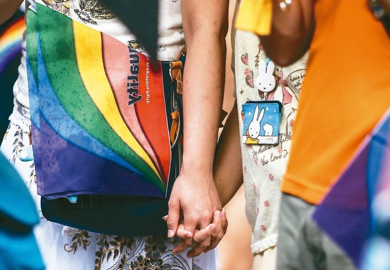 蔡政府上台後推動婚姻平權立法,正反方爭議不休。 圖/聯合報系資料照片