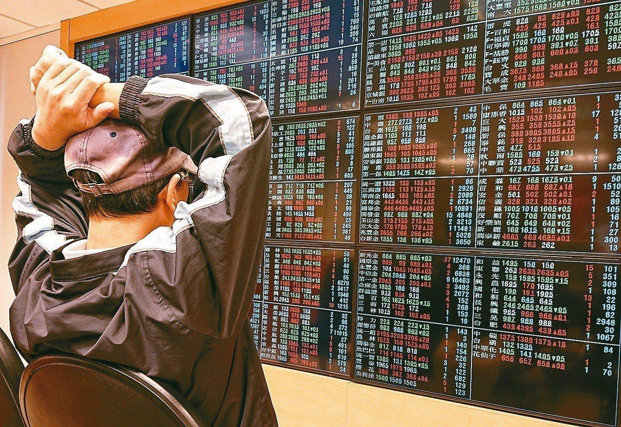 台股今示意圖。 聯合報系資料照