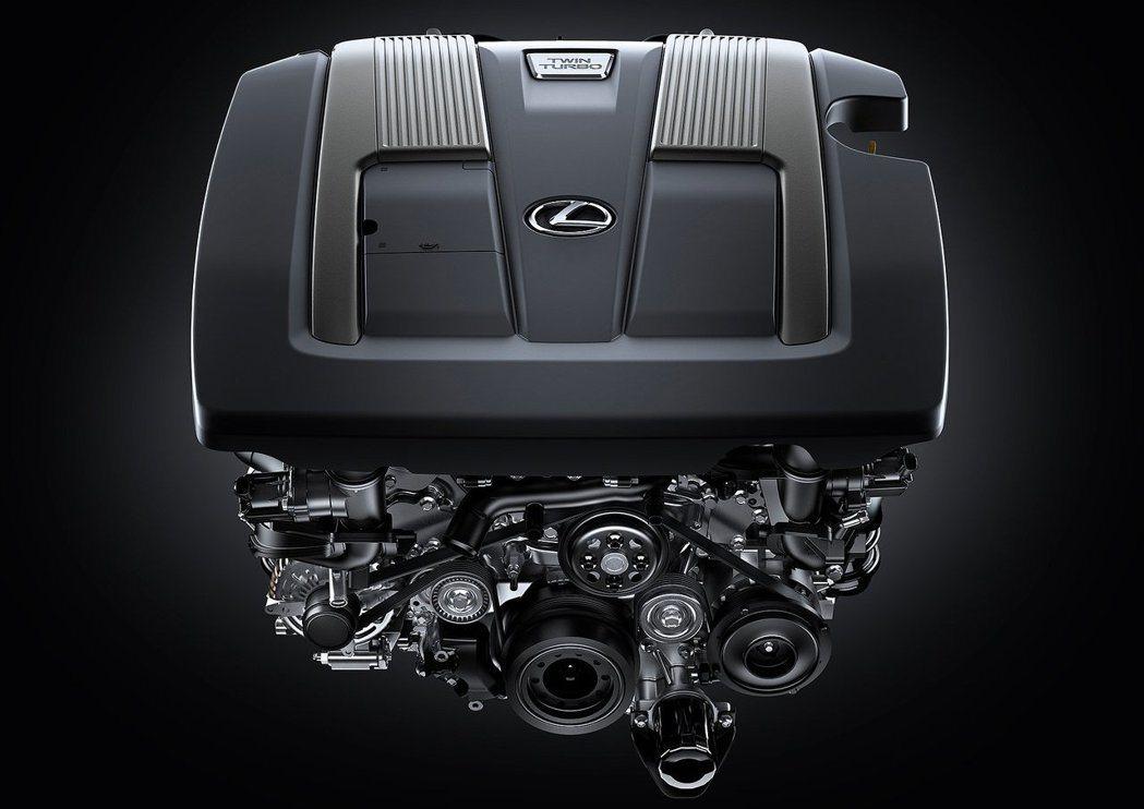 LS 500上的3.5升雙渦輪增壓引擎,可輸出416匹馬力。 摘自Lexus