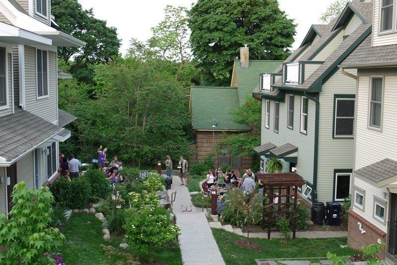 圖為美國密西根州的Newberry Place合作住宅一景。 圖/美聯社