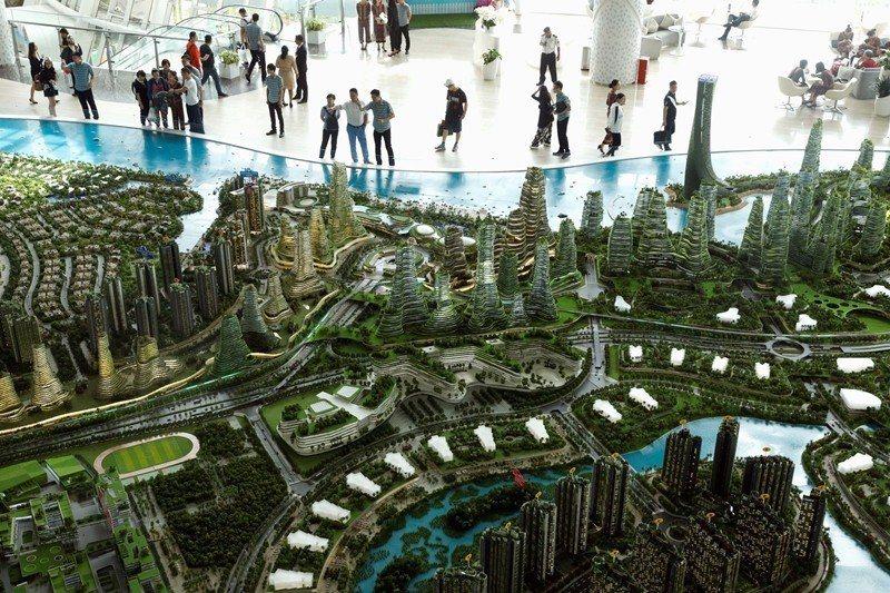 中資早已流入許多國家的不動產市場,圖為中國投資的馬來西亞房地產之一。 圖/路透社