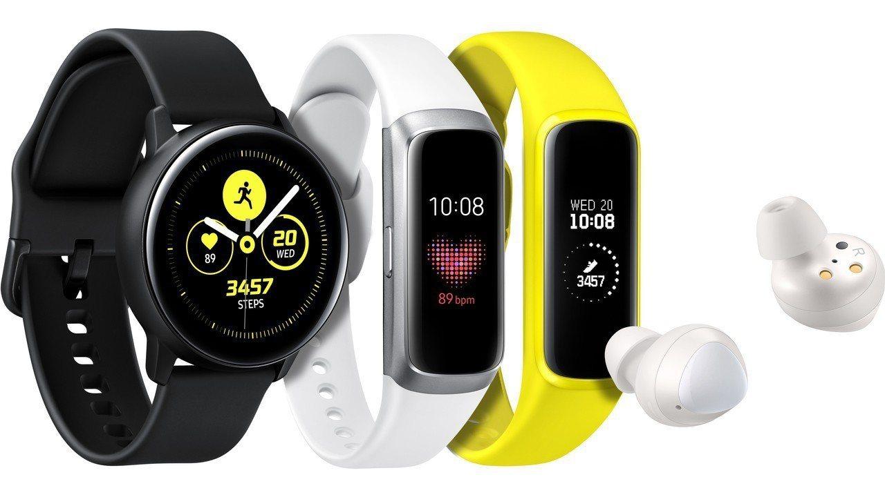 三星發表會上同步亮相多款穿戴式裝置,包括智慧型手表Galaxy Watch Ac...