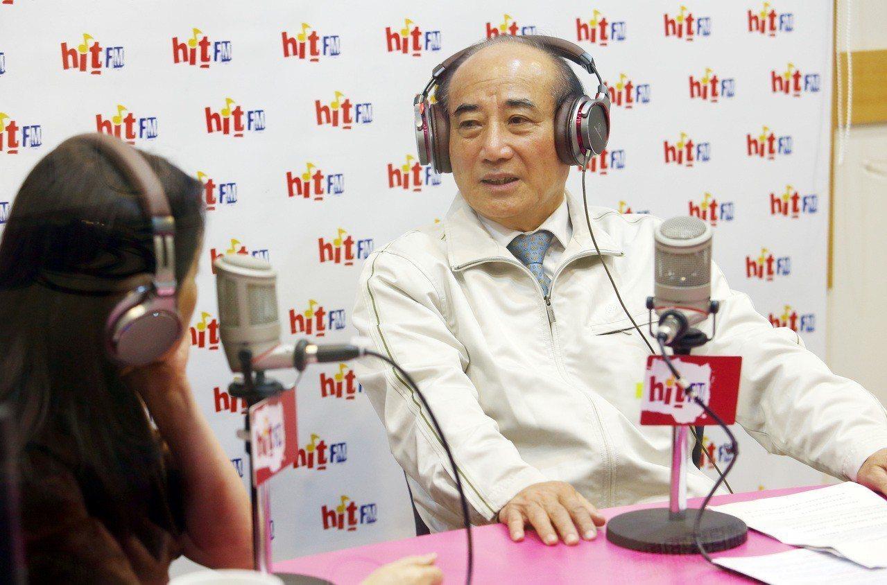 立法院前院長王金平上午接受電台主持人周玉蔻專訪。記者杜建重/攝影