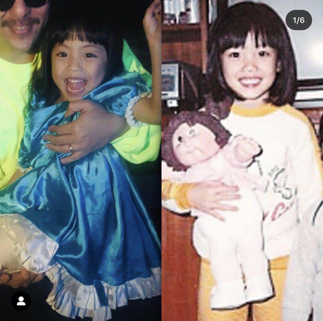 容祖兒新歌「一種永遠」MV和小女孩合作,對比她小時候的樣子(右)真的有幾分神似。...