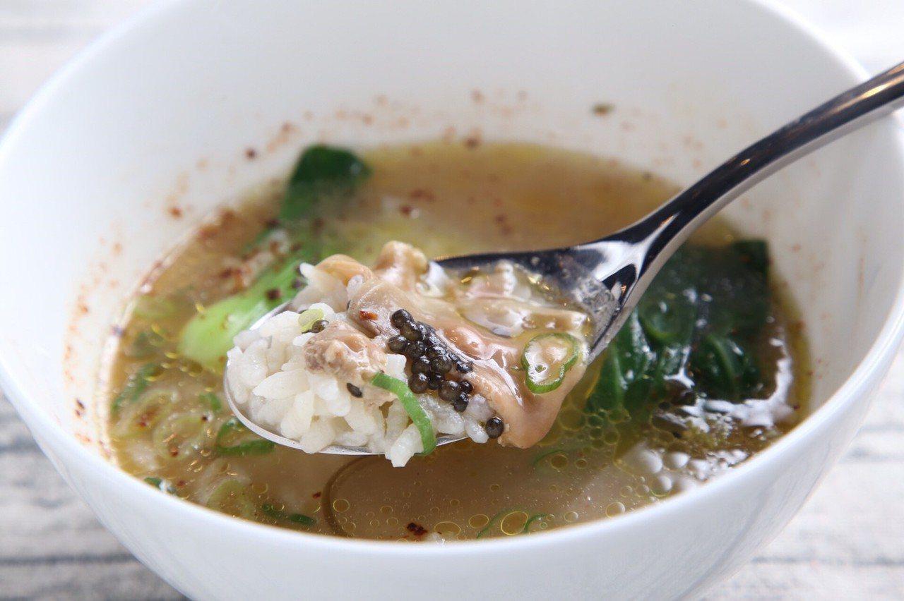 泰式米湯(Khao Tom)鴨肝。圖/晶華酒店集團提供