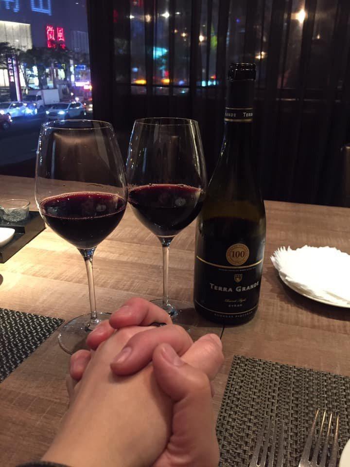 林智賢在情人節時公開有對象了。圖/摘自臉書(  ※ 提醒您:禁止酒駕 飲酒過量有...