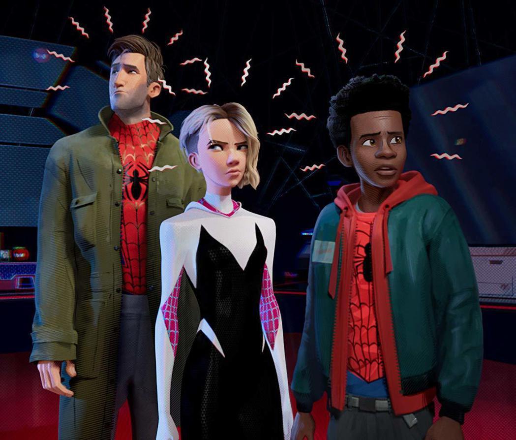 「蜘蛛人:新宇宙」在最佳動畫長片中獲獎呼聲最高。圖/索尼提供