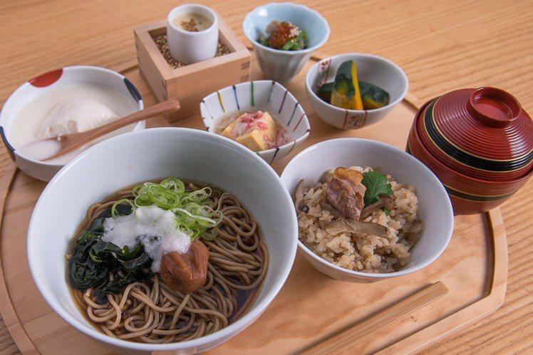 南高梅山藥泥湯麵定食,每份650元。圖/菜々提供