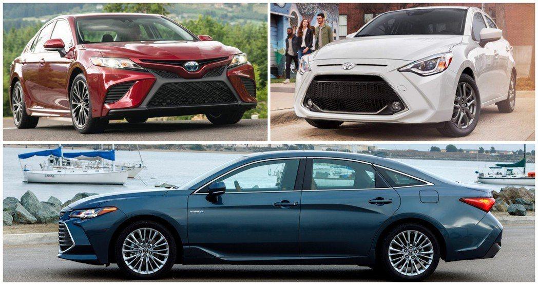 《消費者報告》所選出的2019十大車款中,Toyota就佔了三輛! 摘自Toyo...