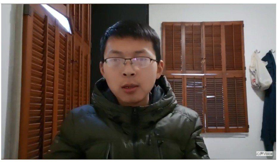 一名旅居美國的中國男網友先前在YouTube帳號「Vlog心聲」發表支持台灣自由...