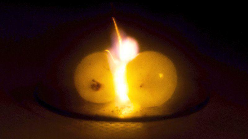葡萄拿去微波加熱會變成火球。圖擷自Smithsonian
