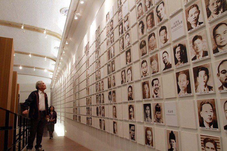 二二八紀念館內的受難者照片牆。 圖/聯合報系資料照