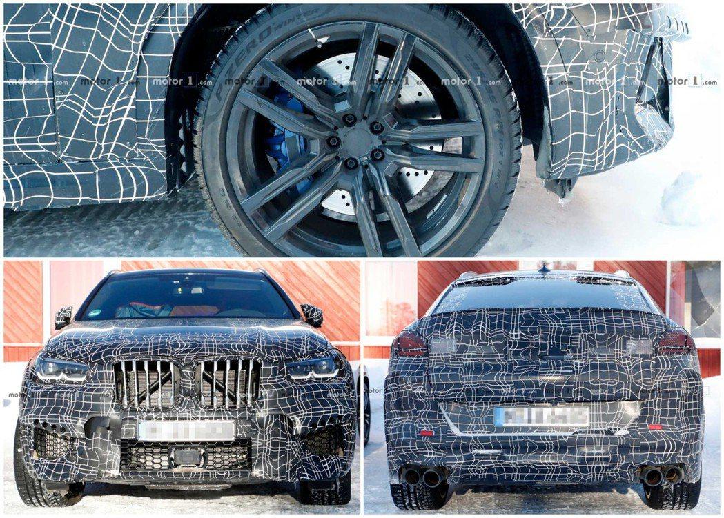多種特徵透露出這台偽裝測試車就是新世代BMW X6 M。 摘自Motor 1