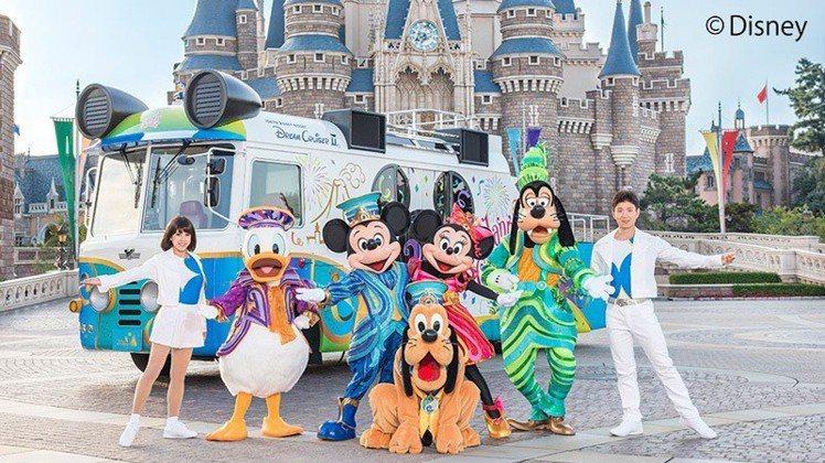 東京迪士尼度假區,將於2月24日在台北舉行35週年慶特別遊行。圖/取自東京迪士尼...