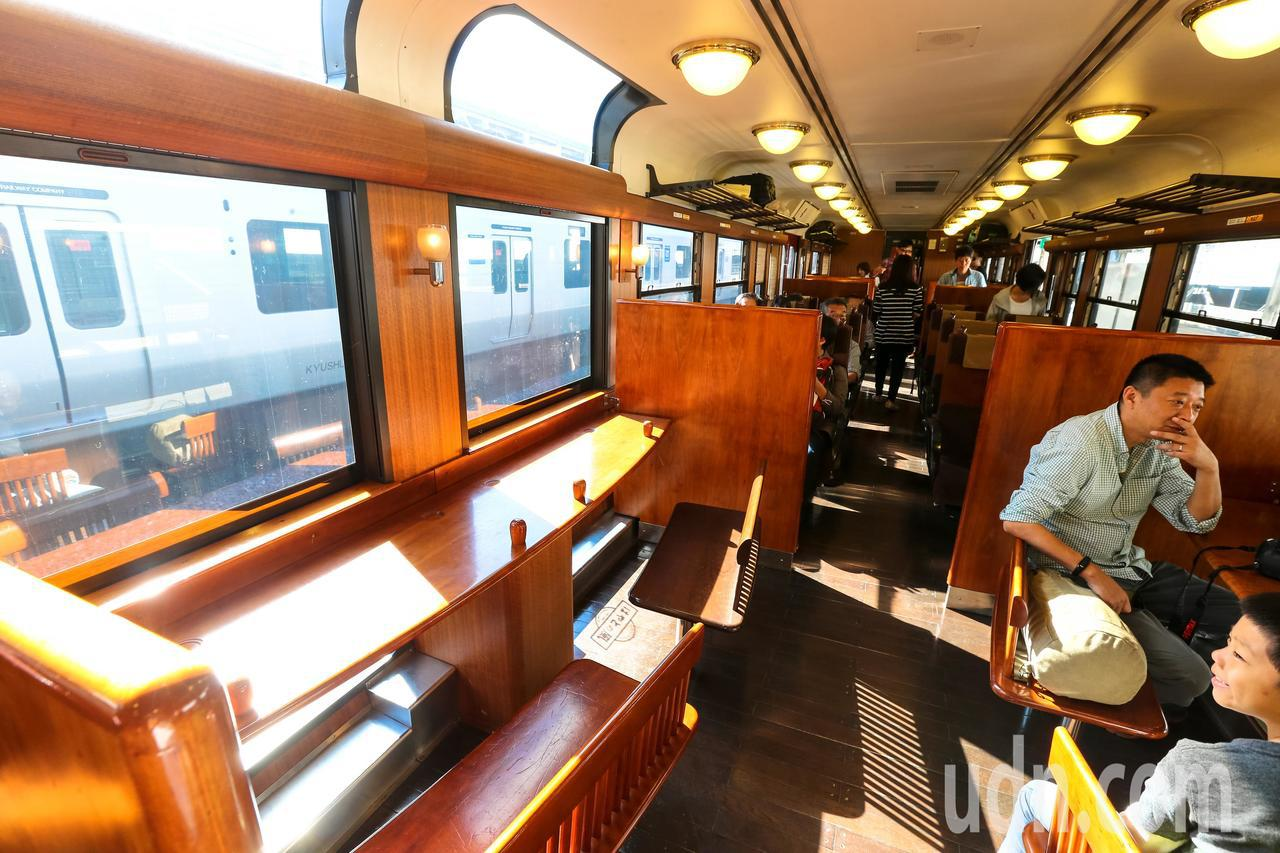 日本觀光列車隼人之風。本報資料照片