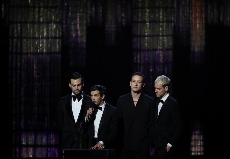 「The 1975」是全英音樂獎上的贏家之一。圖/路透
