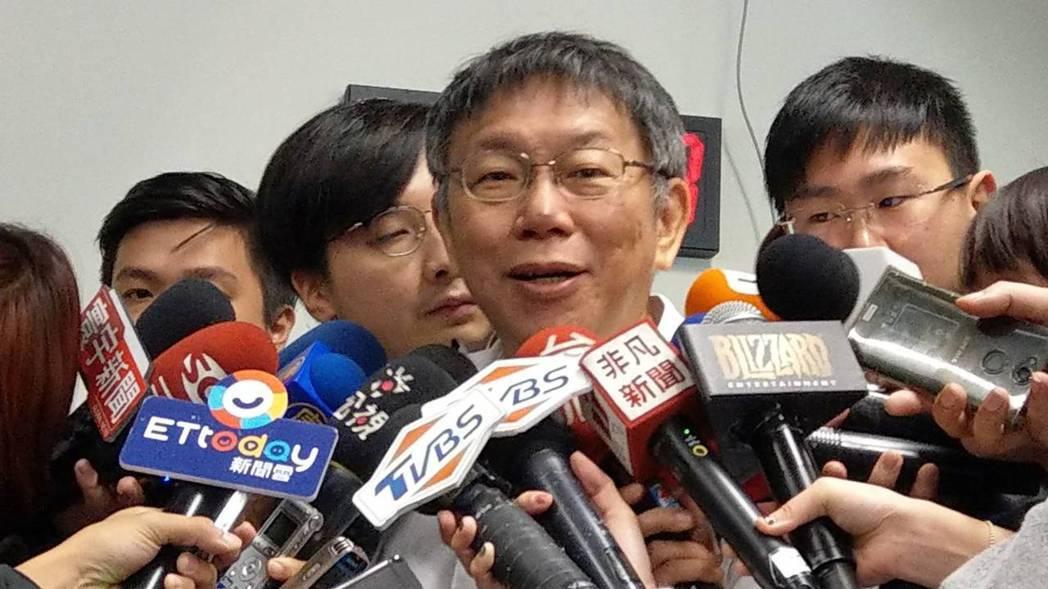台北市長柯文哲。記者楊正海/攝影