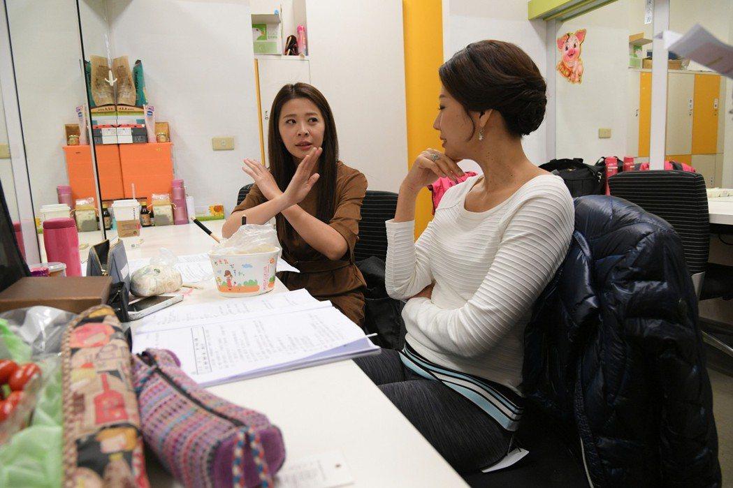 李燕(左)和丁寧在「炮仔聲」中演婆媳  圖/三立提供