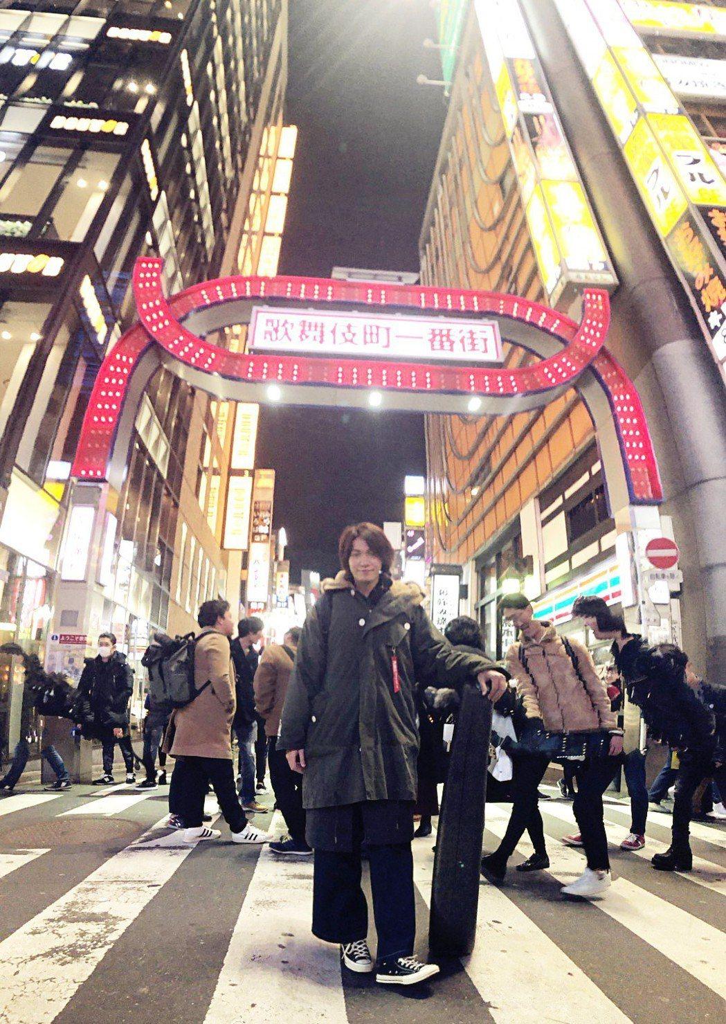 黃少谷日前到日本演出順便旅遊。圖/喜歡音樂提供