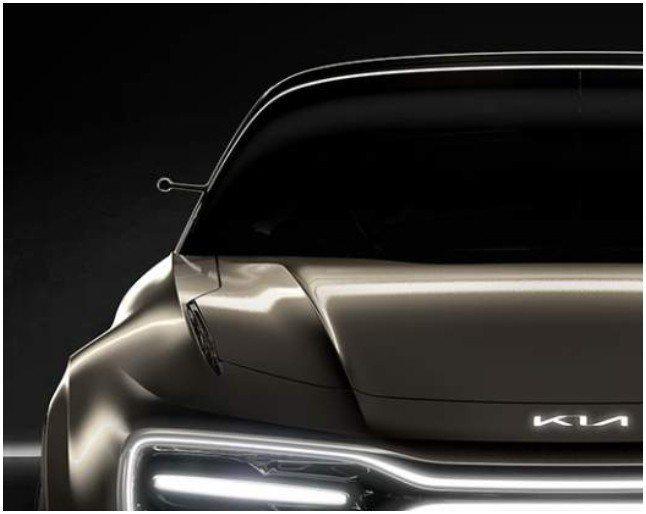 Kia全新電動概念車以小巧玲瓏的攝像鏡頭,取代現今車款上的傳統後視鏡。 截自Ki...