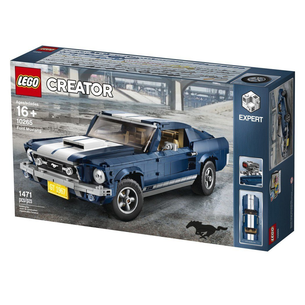 「LEGO 10265 Ford Mustang 福特野馬」。 圖/LEGO提供