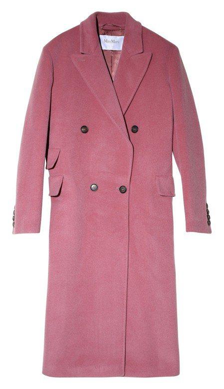 2018秋冬粉色大衣,售價16萬2,700元。圖/Max Mara提供