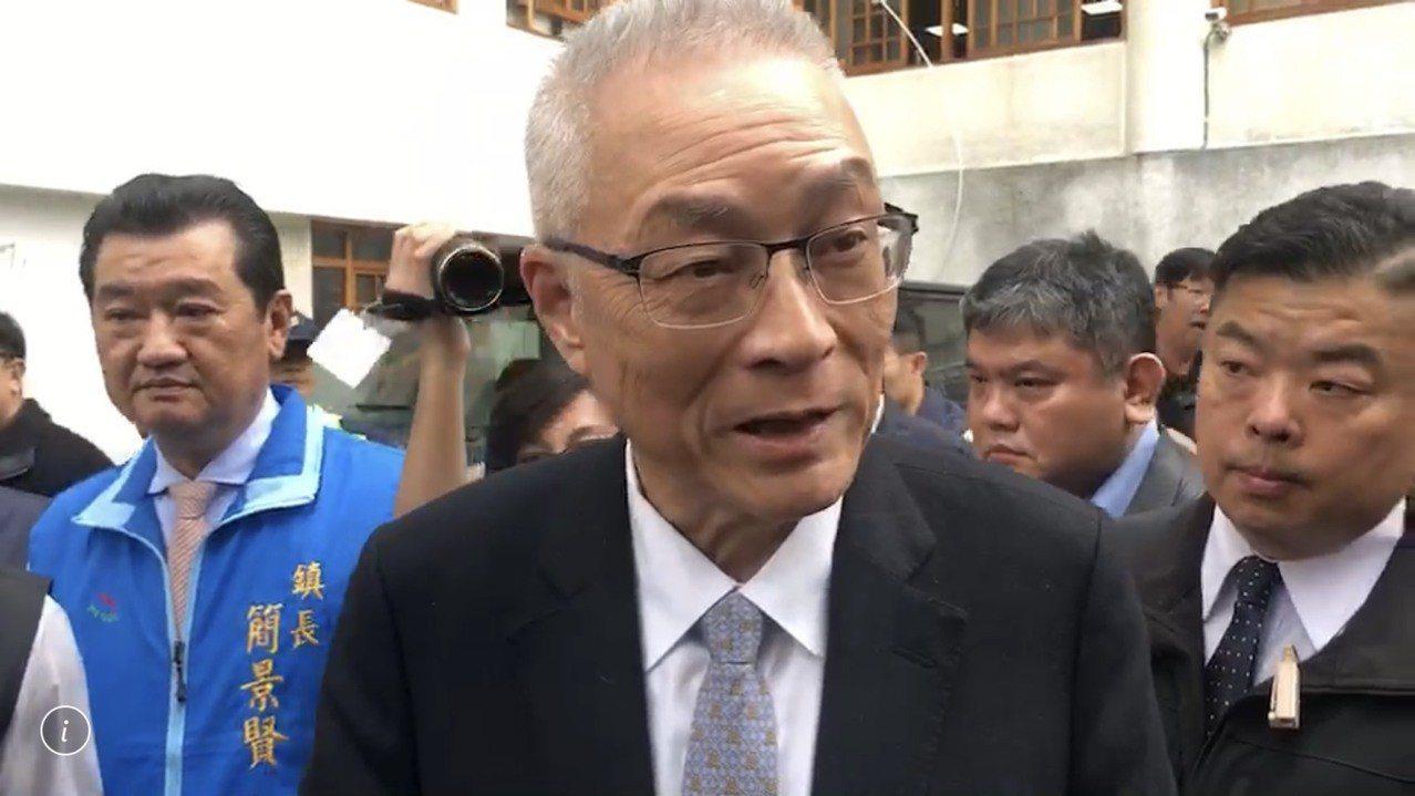 國民黨主席吳敦義。 記者江良誠/攝影