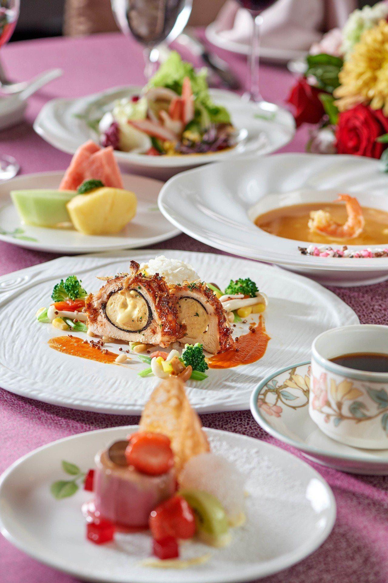 美食饗宴同步開跑。圖/台北福華大飯店提供