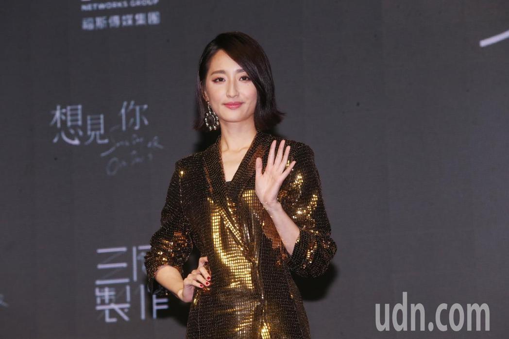 柯佳嬿出席新戲「想見你」發表會。記者徐兆玄/攝影