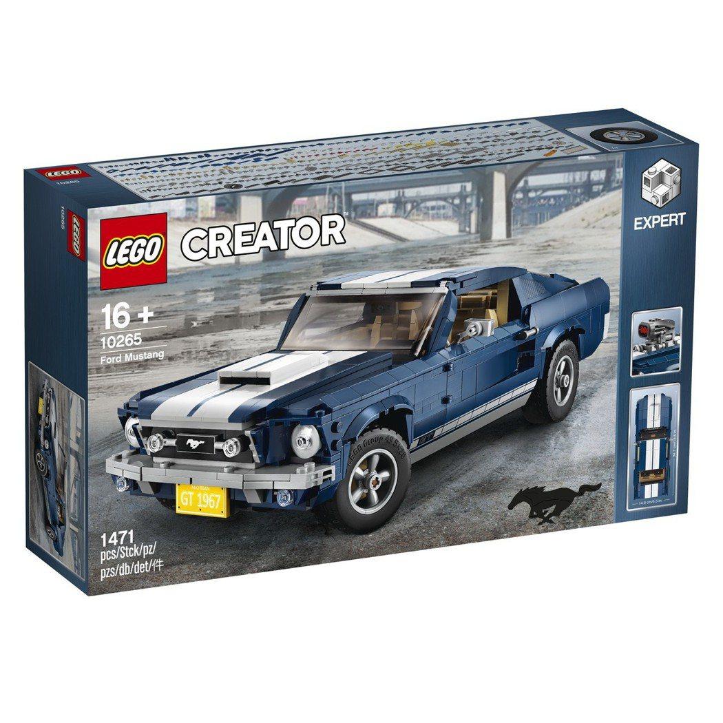 隸屬於樂高「Creator Expert」產品線的《LEGO 10265 Creator Expert Ford Mustang》。 圖/Lego提供