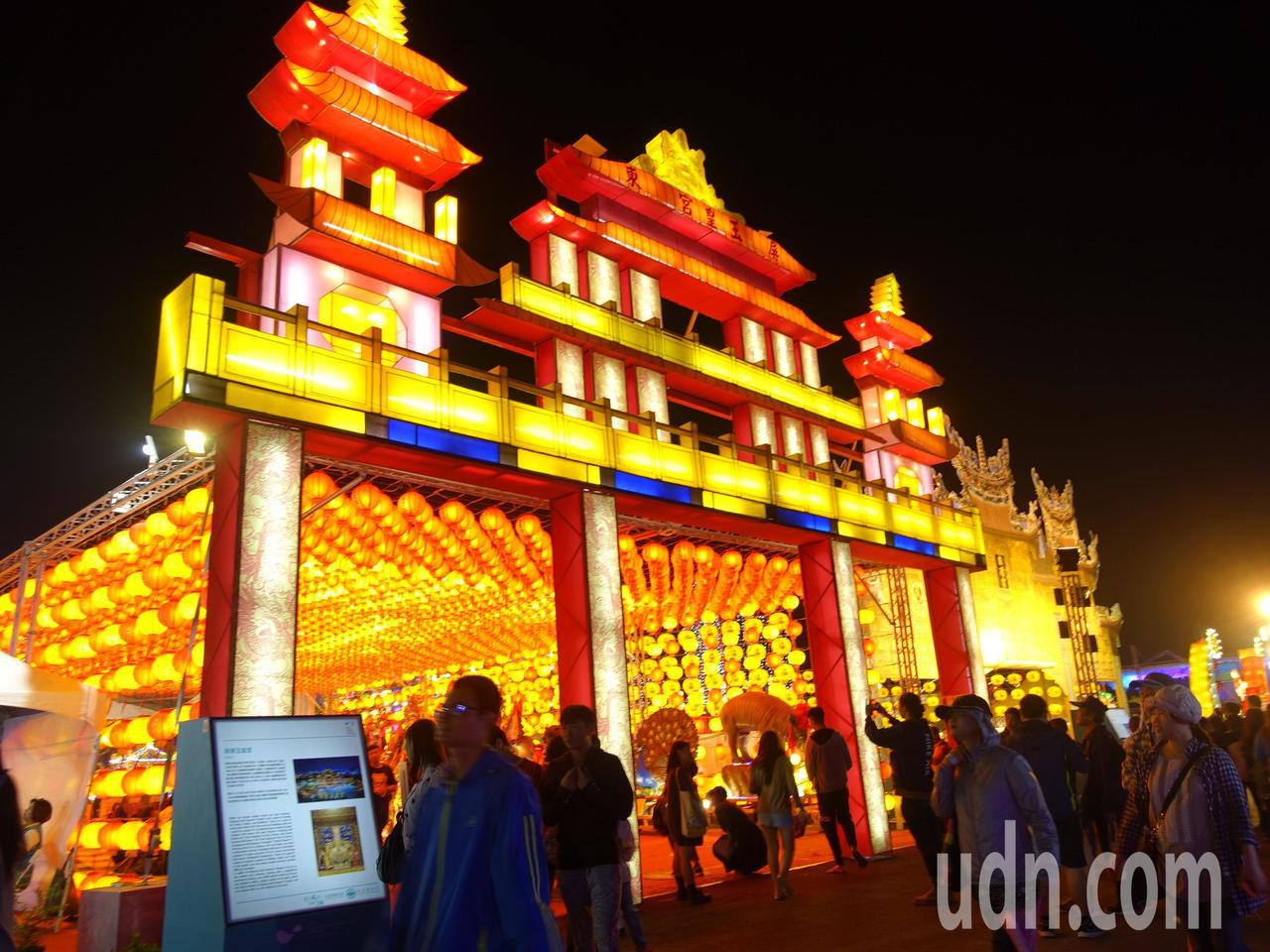 台灣燈會在屏東大鵬灣掀起高潮。記者翁禎霞/攝影