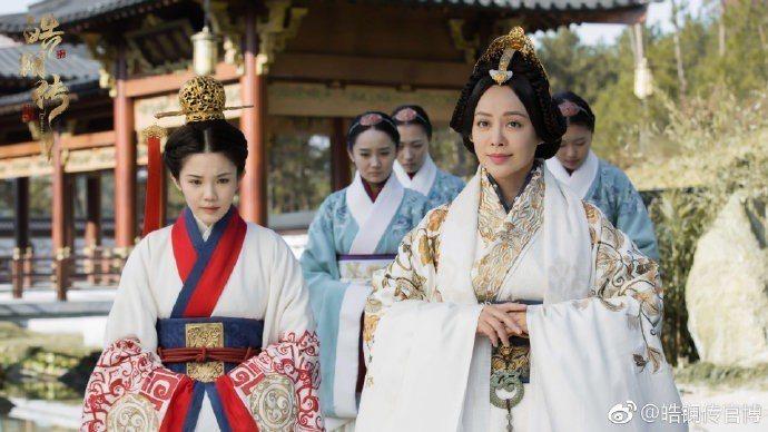 大陸女星寧靜在「皓鑭傳」中飾演趙國王后。圖/摘自微博