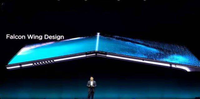 華為發布折疊螢幕手機Mate X。(騰訊)