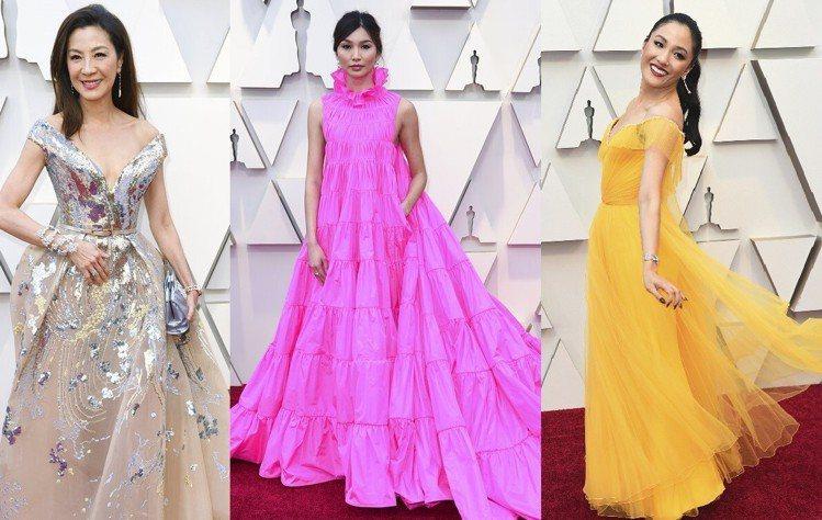 《瘋狂亞洲富豪Crazy Rich Asians》片中三位女星,由左至右為楊紫瓊...